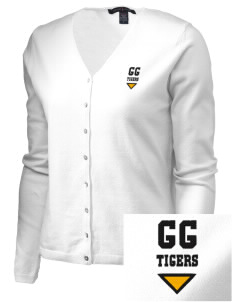 Golden Gate Elementary School Tigers Embroidered Women's Stretch Cardigan Sweater