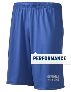 "Sherman Elementary School Sharks Holloway Men's Performance Shorts, 9"" Inseam"