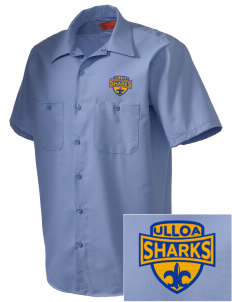Ulloa Elementary School Sharks Embroidered Men's Cornerstone Industrial Short Sleeve Work Shirt