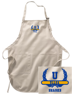 Ulloa Elementary School Sharks Embroidered Full-Length Apron with Pockets