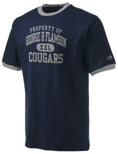 George H Flamson Middle School Cougars Champion Men's Ringer T-Shirt