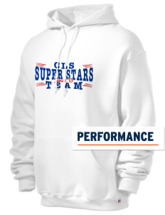 C L Smith Elementary School Super Stars Russell Men's Dri-Power Hooded Sweatshirt