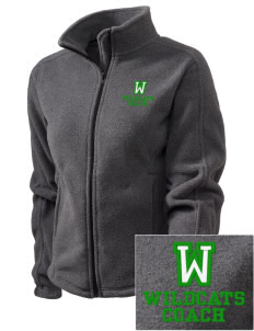 Washington Elementary School Wildcats Embroidered Women's Fleece Full-Zip Jacket