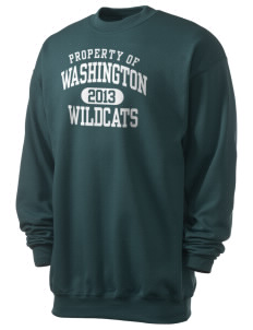 Washington Elementary School Wildcats Men's 7.8 oz Lightweight Crewneck Sweatshirt