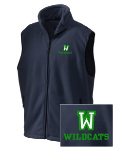 Washington Elementary School Wildcats Embroidered Unisex Wintercept Fleece Vest