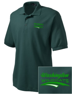 Washington Elementary School Wildcats Embroidered Tall Men's Silk Touch Polo
