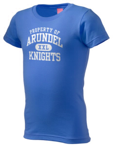 Arundel Elementary School Knights  Girl's Fine Jersey Longer Length T-Shirt
