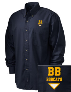 Buri Buri Elementary School Bobcats Embroidered Tall Men's Twill Shirt