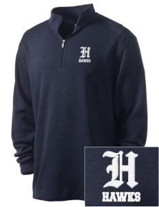 Hillside Elementary School Hawks Embroidered Nike Men's Golf Heather Cover Up