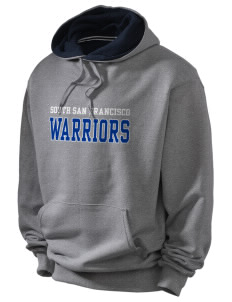 South San Francisco High School Warriors Champion Men's Hooded Sweatshirt