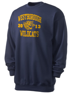Westborough Middle School Wildcats Men's 7.8 oz Lightweight Crewneck Sweatshirt