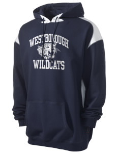 Westborough Middle School Wildcats Men's Pullover Hooded Sweatshirt with Contrast Color