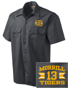 Morrill Middle School Tigers Embroidered Dickies Men's Short-Sleeve Workshirt