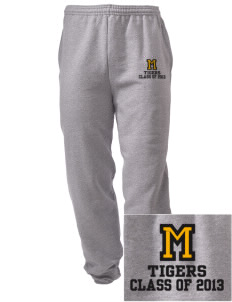Morrill Middle School Tigers Embroidered Men's Sweatpants with Pockets