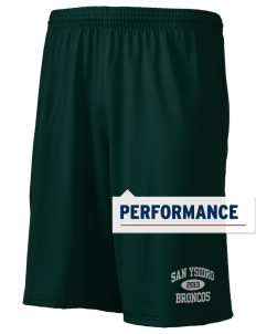 "San Ysidro Elementary School Broncos Holloway Men's Performance Shorts, 9"" Inseam"