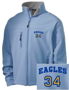 Central Continuation High School Eagles Embroidered Men's Soft Shell Jacket