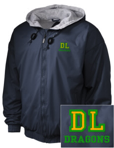 De Laveaga Elementary School Dragons Embroidered Holloway Men's Hooded Jacket