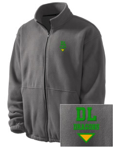 De Laveaga Elementary School Dragons Embroidered Men's Fleece Jacket