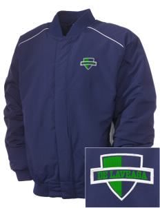 De Laveaga Elementary School Dragons Embroidered Russell Men's Baseball Jacket