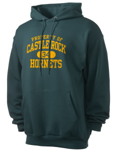 Castle Rock Elementary School Hornets Men's 7.8 oz Lightweight Hooded Sweatshirt