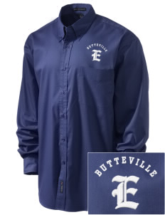 Butteville Union Elementary School Eagles Embroidered Men's Easy-Care Shirt