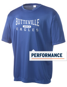Butteville Union Elementary School Eagles Men's Competitor Performance T-Shirt