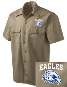 Butteville Union Elementary School Eagles Embroidered Dickies Men's Short-Sleeve Workshirt
