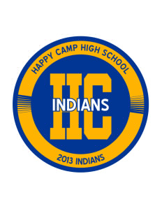 Happy Camp High School Indians Sticker