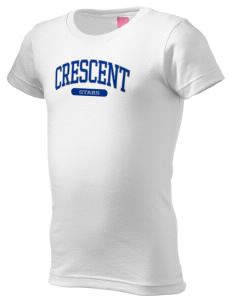 Crescent Elementary School Stars  Girl's Fine Jersey Longer Length T-Shirt