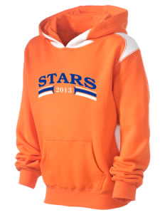 Crescent Elementary School Stars Kid's Pullover Hooded Sweatshirt with Contrast Color