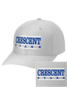 Crescent Elementary School Stars Embroidered Wool Adjustable Cap