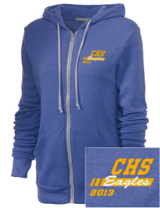Cloverdale High School Eagles Embroidered Alternative Unisex The Rocky Eco-Fleece Hooded Sweatshirt