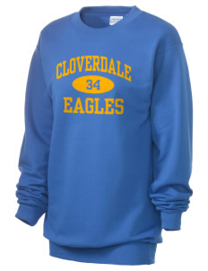 Cloverdale High School Eagles Unisex 7.8 oz Lightweight Crewneck Sweatshirt