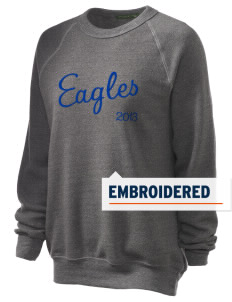 Cloverdale High School Eagles Embroidered Unisex Alternative Eco-Fleece Raglan Sweatshirt