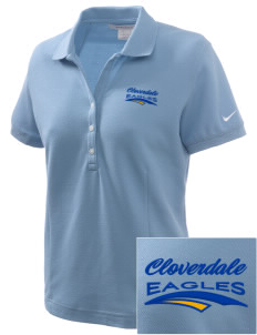 Cloverdale High School Eagles Embroidered Nike Women's Pique Golf Polo