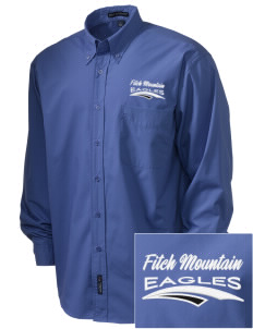 Fitch Mountain Primary School Eagles  Embroidered Men's Easy Care, Soil Resistant Shirt
