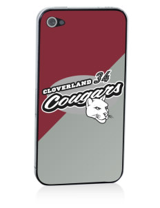Cloverland Elementary School Cougars Apple iPhone 4/4S Skin