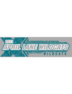 "April Lane Elementary School Wildcats Bumper Sticker 11"" x 3"""