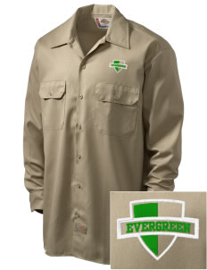 Evergreen Elementary School Roadrunners Embroidered Dickies Men's Long-Sleeve Workshirt