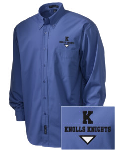 Knolls Elementary School Knolls Knights  Embroidered Men's Easy Care, Soil Resistant Shirt