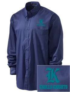 Knolls Elementary School Knolls Knights Embroidered Men's Easy-Care Shirt