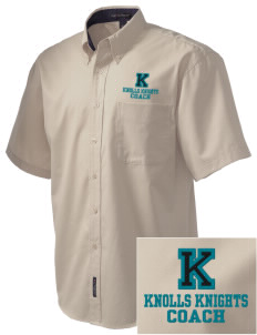 Knolls Elementary School Knolls Knights Embroidered Men's Easy Care Shirt