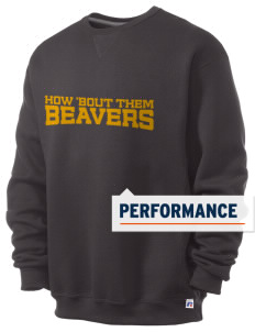Browns Valley Elementary School Beavers  Russell Men's Dri-Power Crewneck Sweatshirt