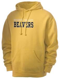 Browns Valley Elementary School Beavers Men's 80/20 Pigment Dyed Hooded Sweatshirt