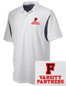 Flood Middle School Panthers Embroidered Men's Back Blocked Micro Pique Polo