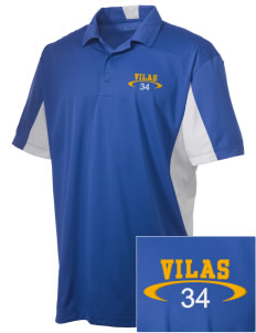 Vilas School Elementary Broncos - High School Raiders Embroidered Men's Side Blocked Micro Pique Polo