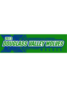 "Douglass Valley Elementary School Wolves Bumper Sticker 11"" x 3"""