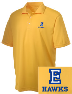 Explorer Elementary School Hawks Embroidered Men's Double Mesh Polo