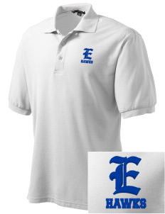 Explorer Elementary School Hawks Embroidered Tall Men's Silk Touch Polo