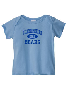 Elizabeth M Bennet Middle School Bears  Baby Lap Shoulder T-Shirt